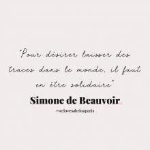 CITATION 💌 - « Pour désirer laisser des traces dans le monde, il faut en être solidaire » Simone de Beauvoir.⠀⠀⠀⠀⠀⠀⠀⠀⠀ Tous les mardis découvrez une citation de femme forte, une citation qui nous inspire, qui nous tire vers le haut, qui nous booste, qui nous fait sourire.⠀⠀⠀⠀⠀⠀⠀⠀⠀ -⠀⠀⠀⠀⠀⠀⠀⠀⠀ #mardicitation #welovesabrinaparis #femmeforte #simonedebeauvoir